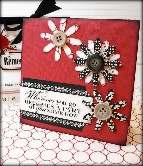 Red flower card 2