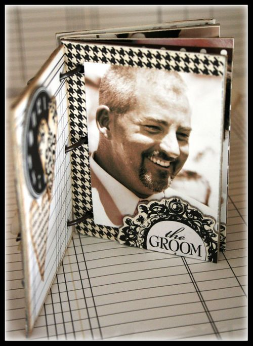 Our wedding mini book the groom